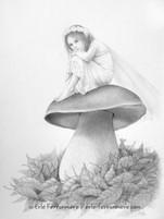 La fée sur un champignon © Erlé Ferronnière