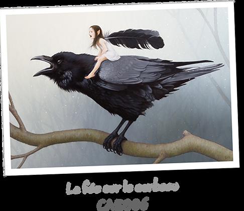 La fée sur le corbeau