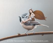 La fée sur la mésange huppée © Erlé Ferronnière