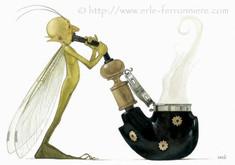 Halloween - L'elfe fumant la pipe © Erlé Ferronnière