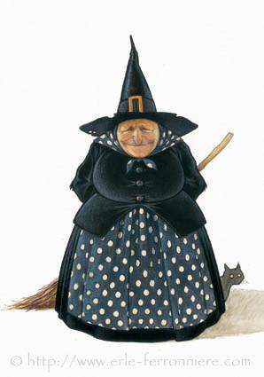Halloween - Sorcière © Erlé Ferronnière