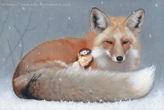 La fée et le renard sous la neige © Erlé Ferronnière