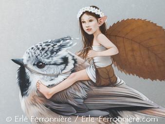 La fée sur la mésange huppée (détail) © Erlé Ferronnière