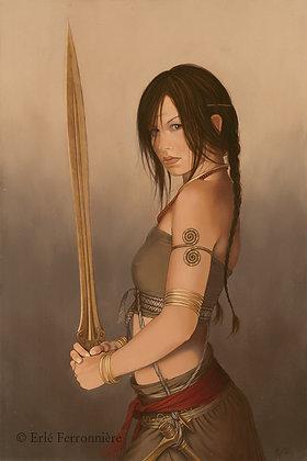 Guerrière à l'épée / Warrior woman with a sword