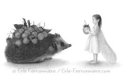 La fée et le hérisson © Erlé Ferronnière