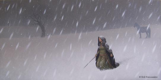Gerrière sous la neige © Erlé Ferronnière