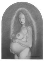 Mélusine (dessin) © Erlé Ferronnière