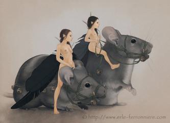 Les fées sur les souris © Erlé Ferronnière