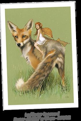 La fée sur le renard