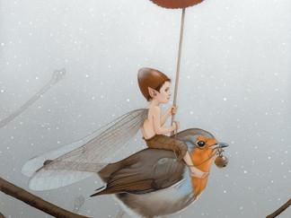 """Le """"fé"""" sur le rouge-gorge / The Fairy on the robin…"""
