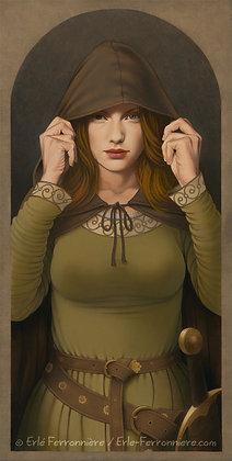 Guerrière au capuchon / Warrior woman with a hood