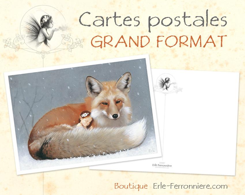 Cartes postales GRAND FORMAT / LARGE FORMAT postcards
