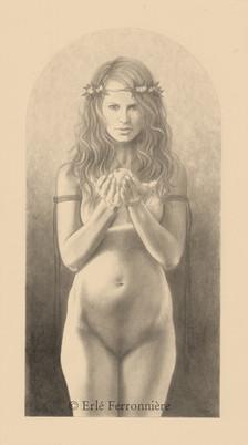 L'offrande (dessin) © Erlé Ferronnière