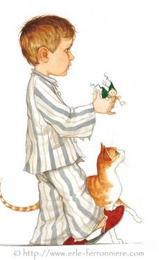 Mic & Mac - Le garçon en pyjama © Erlé Ferronnière