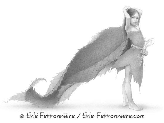 La fée aux feuilles de châtaignier / The fairy with chestnut tree leaves
