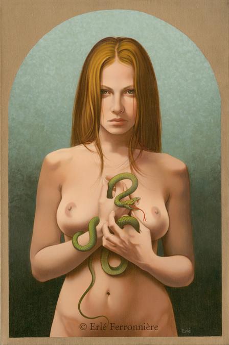 La femme au serpent © Erlé Ferronnière