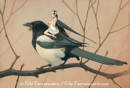 La fée sur une pie © Erlé Ferronnière