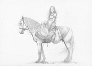 La Dame sans Mercy (dessin) © Erlé Ferronnière