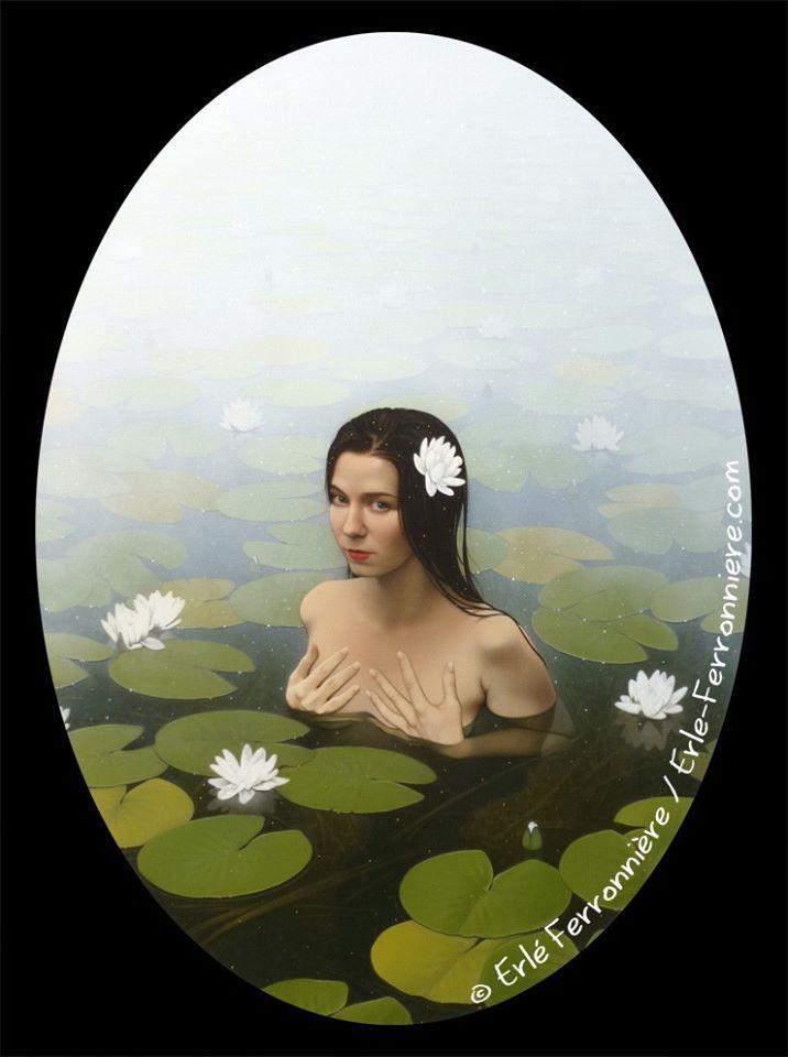 Ondine - peinture acrylique sur toile 50x70 cm - Modèle : Steffie Selkie