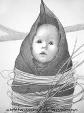 Moïra, le bébé fée suspendu (détail) © Erlé Ferronnière