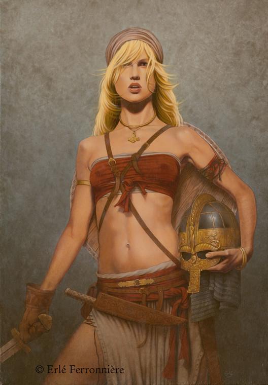 Guerrière viking © Erlé Ferronnière