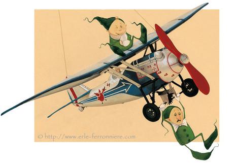 Mic & Mac - L'avion I © Erlé Ferronnière