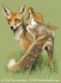 La fée sur le renard © Erlé Ferronnière