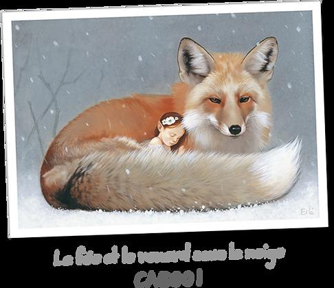 La fée et le renard sous la neige