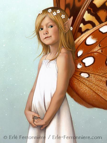 Tinker Bell, la fée Clochette (détail) © Erlé Ferronnière