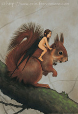 La fée sur l'écureuil © Erlé Ferronnière