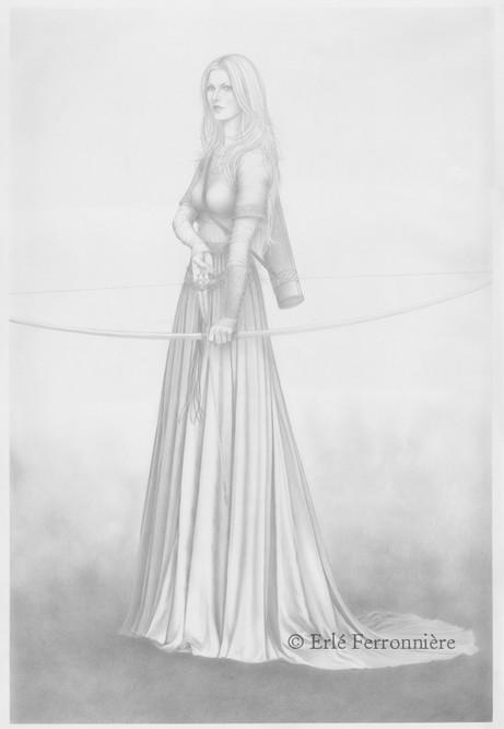Archère (dessin) © Erlé Ferronnière