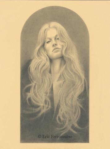 Femme au poignard (dessin) © Erlé Ferronnière