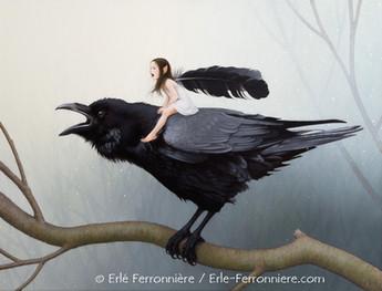 La fée sur le corbeau © Erlé Ferronnière