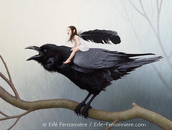 La Fée sur le corbeau (couleur)