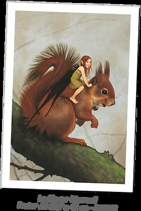 La fée sur l'écureuil