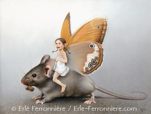 La fée sur la souris © Erlé Ferronnière