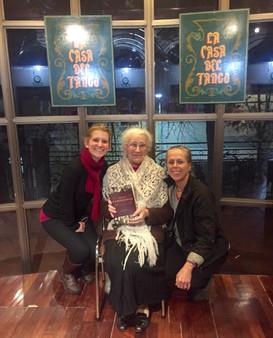 With Kristin Wendland and Nélida Rochetto at Casa del Tango