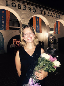 Post performance in front of Lobero Theatre, Santa Barbara, CA