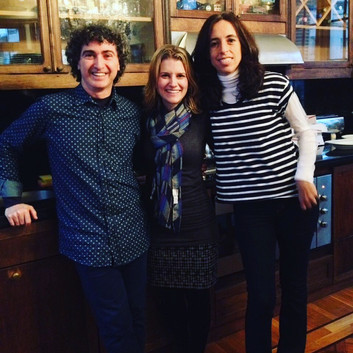 With tangueros, Damían Bolotin and Sonia Possetti