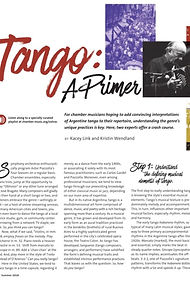 Tango: A Primer in Chamber Music Magazine 2018