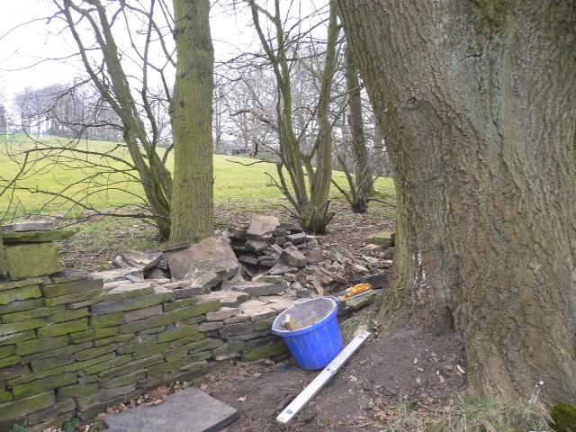Church yard wall before repair