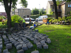 New cobbles for entrance