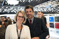 Marketingleiterin Nicole mit Patrick Dempsey
