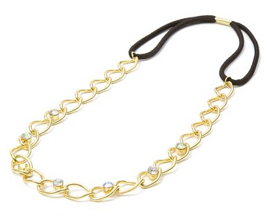 Chain and Rhinestone Headband