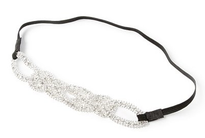 Large Rhinestone Braided Headband