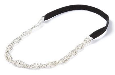 Rhinestone Braided Headband