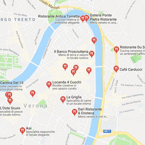 Places to eat in center Verona