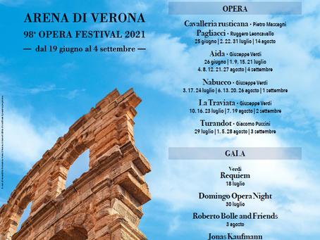 Stagione Lirica 2021 - Arena di Verona