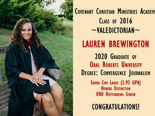 Alumni Spotlight: Lauren Brewington