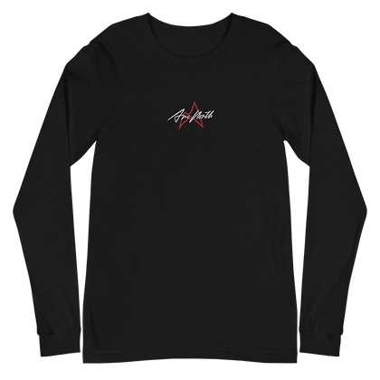 'LAUNCH EDITION' EMBROIDED LONG SLEEVE (BLACK/WHITE)